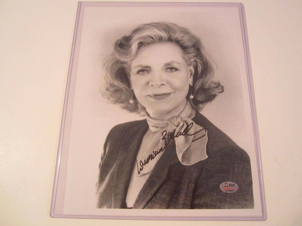 Lot 855: Lauren Bacall (Actress) Signed Autographed 8x10 Photo Certified CoA
