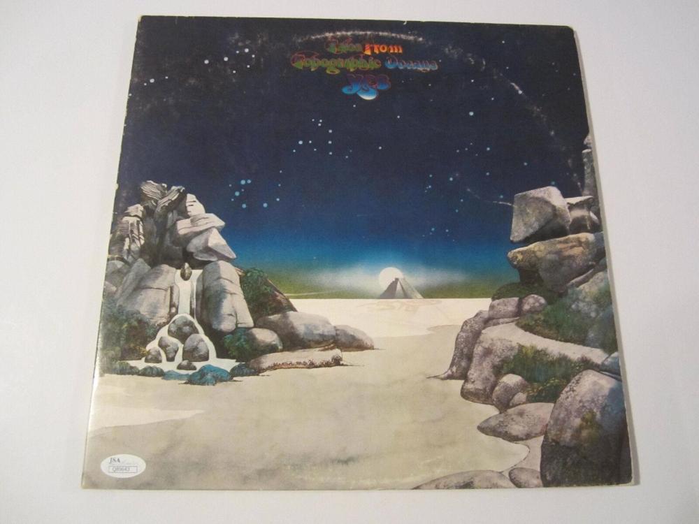 Lot 859: Jon Anderson Signed Autographed Vintage Record Cover JSA CoA