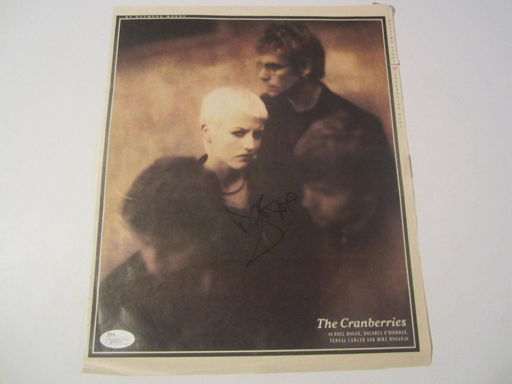 Lot 863: The Cranberries Band Signed Autographed Rolling Stones Magazine Photo JSA CoA