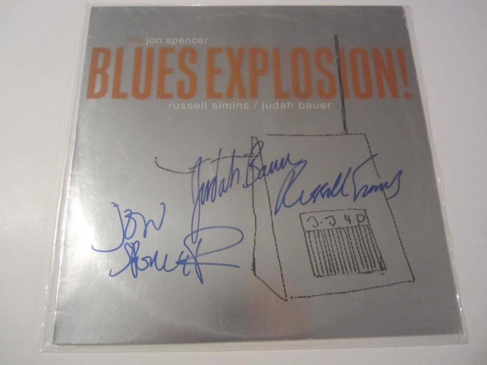 Lot 861: The Jon Spencer Blues Explosion Band Signed Autographed Record Cover JSA CoA