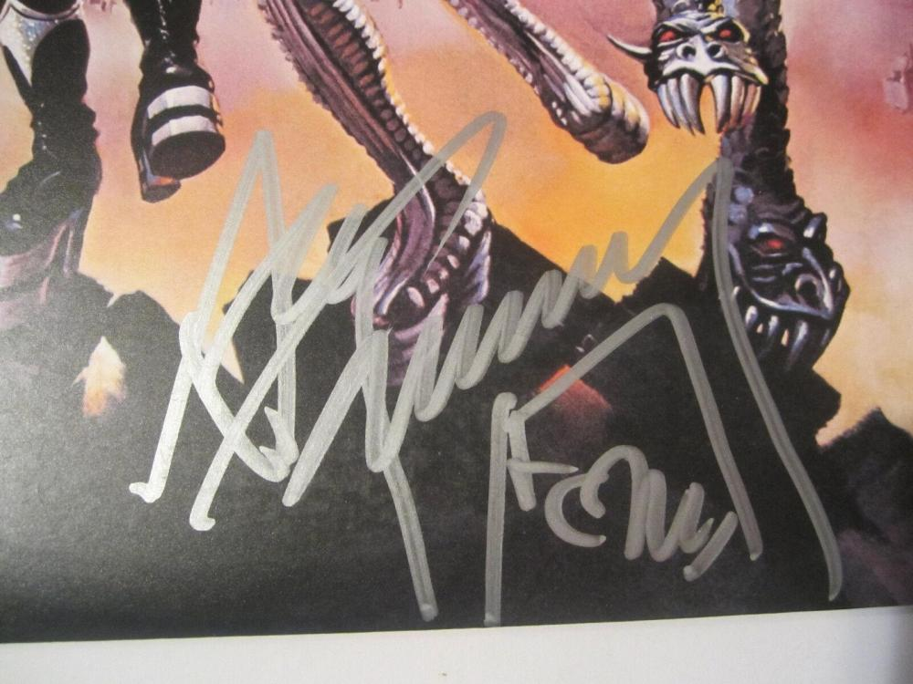 Lot 864: Ace Frehley Signed Autographed KISS Record Cover Certified CoA