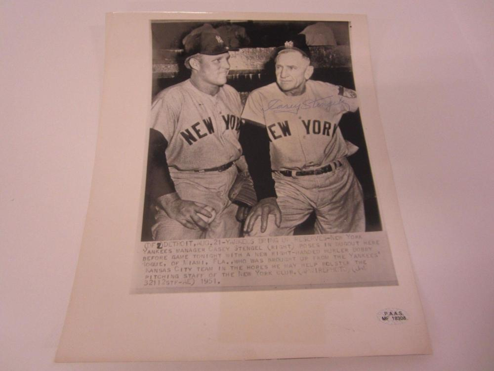 Lot 871: Casey Stengel NY Yankees Signed Autographed 8x10 Photo Certified CoA