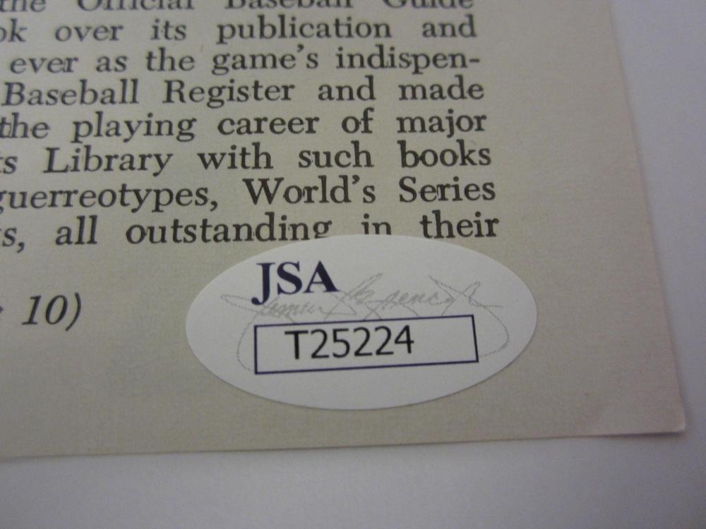 Lot 874: Norm Cash Detroit Tigers Signed Autographed 8x10 Photo JSA CoA