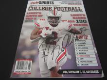 Lot 891: JK DOBBINS OHIO STATE BUCKEYES SIGNED COLEGE FOOTBALL MAGAZINE COA