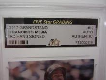 Lot 894: 2017 GRANDSTAND FRANCISCO MEJIA SIGNED AUTOGRAPHED AUTHENTIC CARD