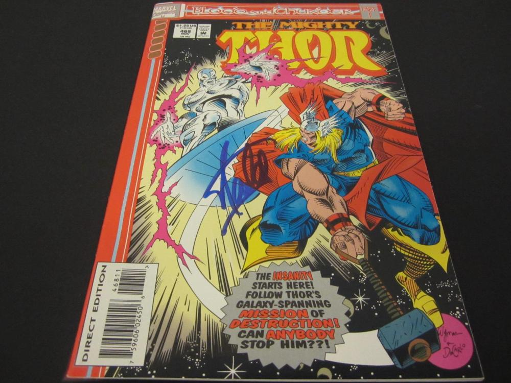 Lot 895: STAN LEE SIGNED THE MIGHTY THOR MARVEL COMIC BOOK COA
