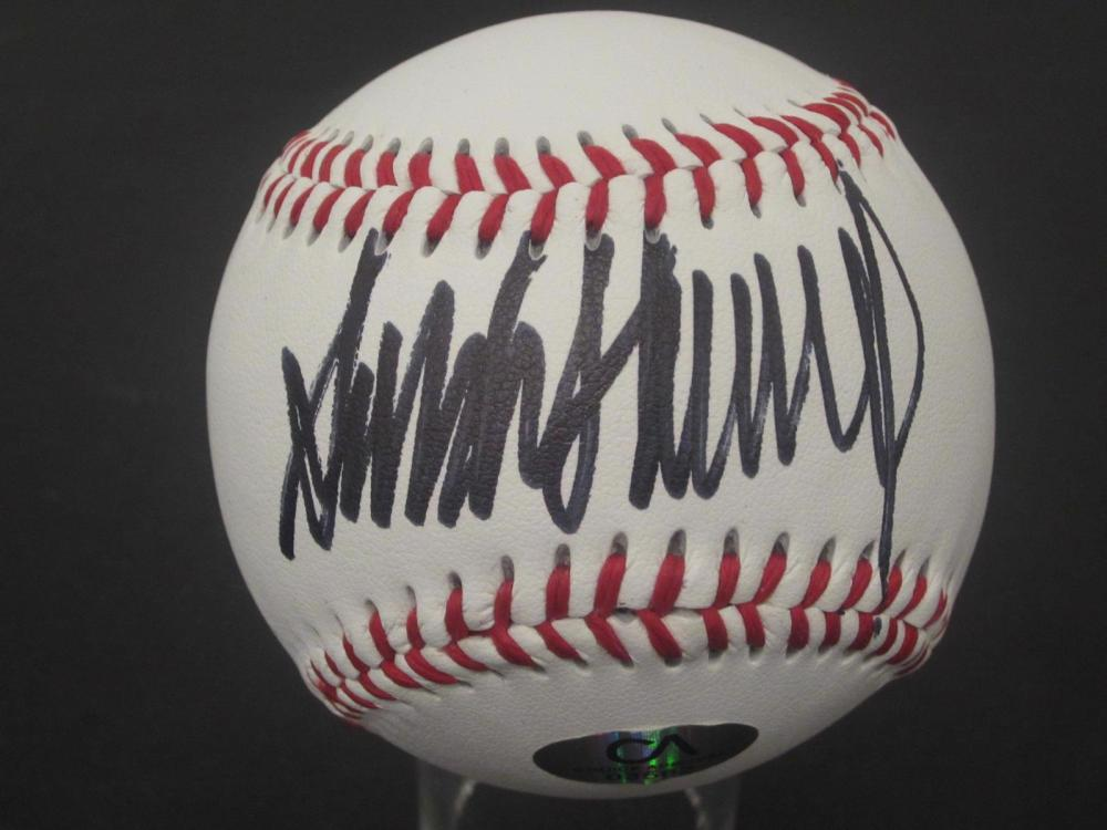 Lot 898: Donald Trump 45th President signed autographed Baseball Certified Coa
