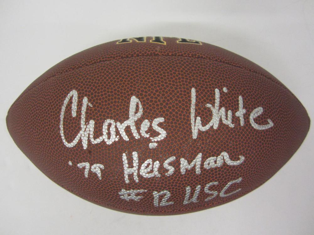 Lot 899: Charles White signed autographed Football Certified Coa