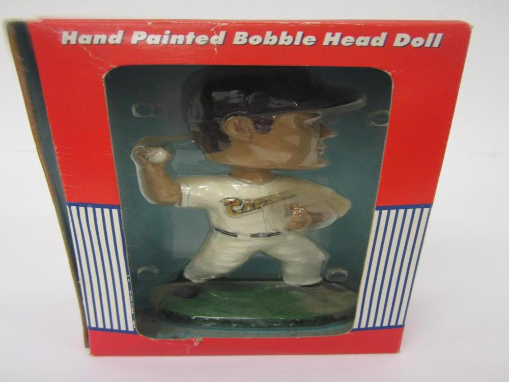 Lot 906: LAKE COUNTY CAPTAINS HAND PAINTED BOBBLEHEAD