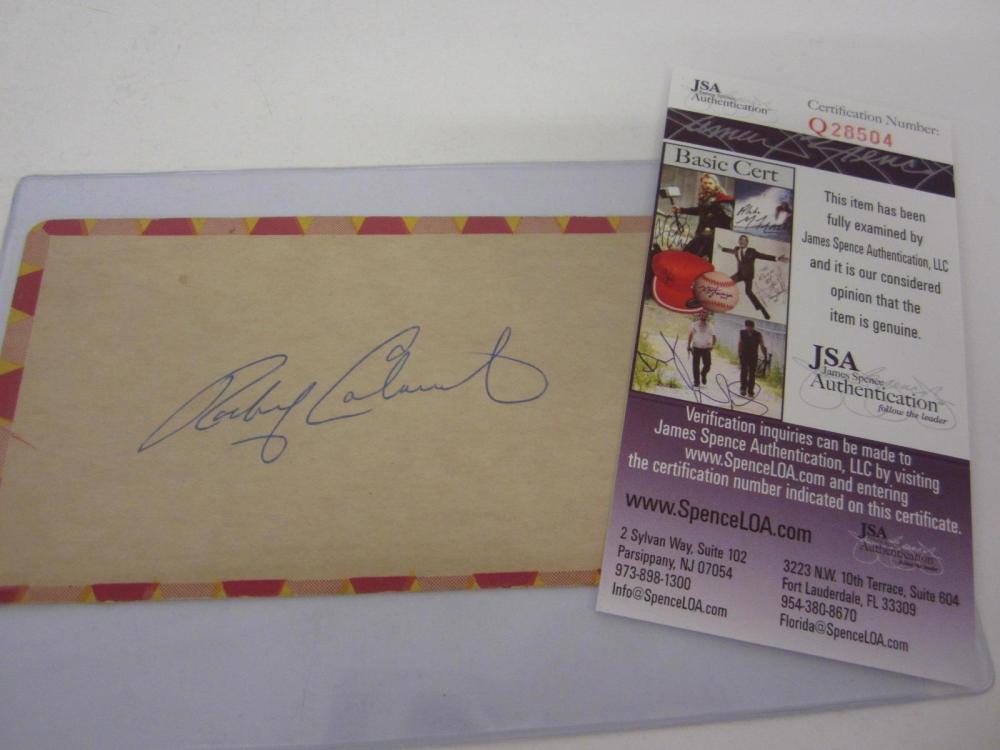 Lot 909: ROCKY COLAVITO SIGNED AUTOGRAPHED 3X5 INDEX CARD JSA COA