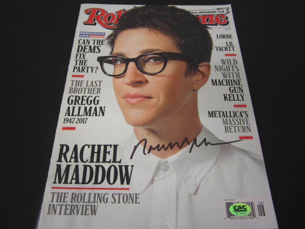 Lot 925: Rachel Maddow signed autographed Magazine Certified Coa