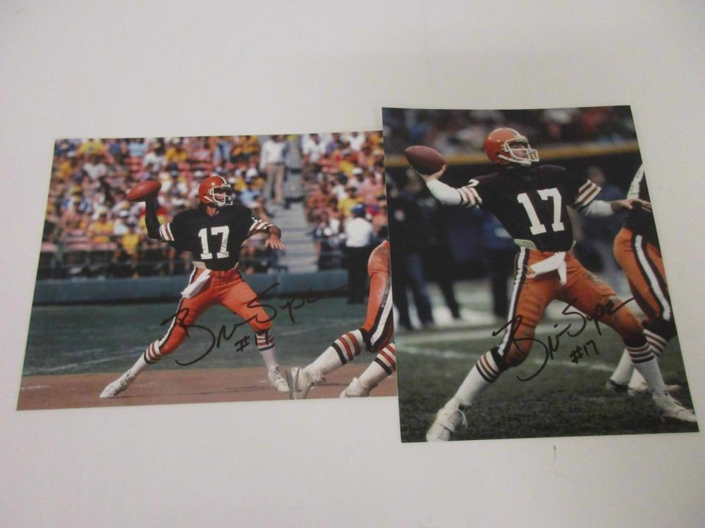 Lot 921: (2)BRIAN SIPE SIGNED AUTOGRAPHED BROWNS 8X10 COA