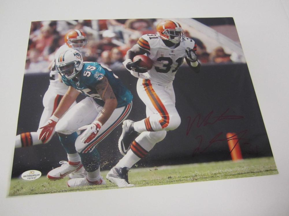 Lot 922: MONTARIO HARDESTY SIGNED AUTOGRAPHED BROWNS 8X10 COA