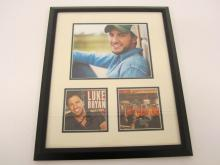 Lot 928: Luke Bryan Signed Autographed Framed CD Cover Certified CoA