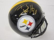Lot 937: TJ Watt Pittsburgh Steelers Signed Autographed Full Sized Helmet JSA CoA