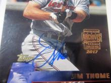 Lot 956: 2017 Topps Archives Jim Thome Cleveland Indians Signed Autographed Baseball Card #d 6/8