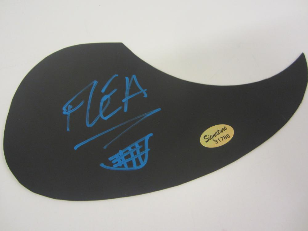 Lot 958: FLEA signed Autographed Guitar Pick Guard Certified