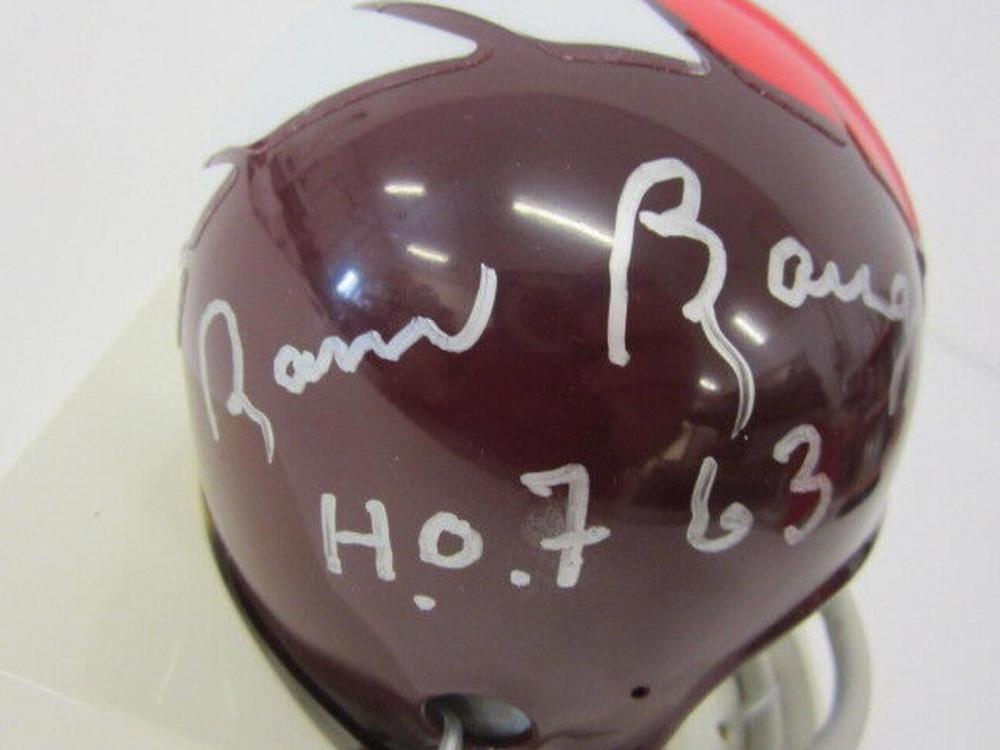 Lot 974: Sammy Baugh Washington Redskins Signed Throwback Mini Helmet Certified CoA