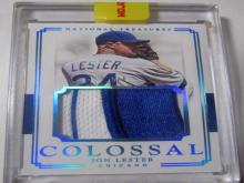 Lot 968: Jon Lester Chicago Cubs Game Used Jersey Relic Baseball Trading Card #d 5/5