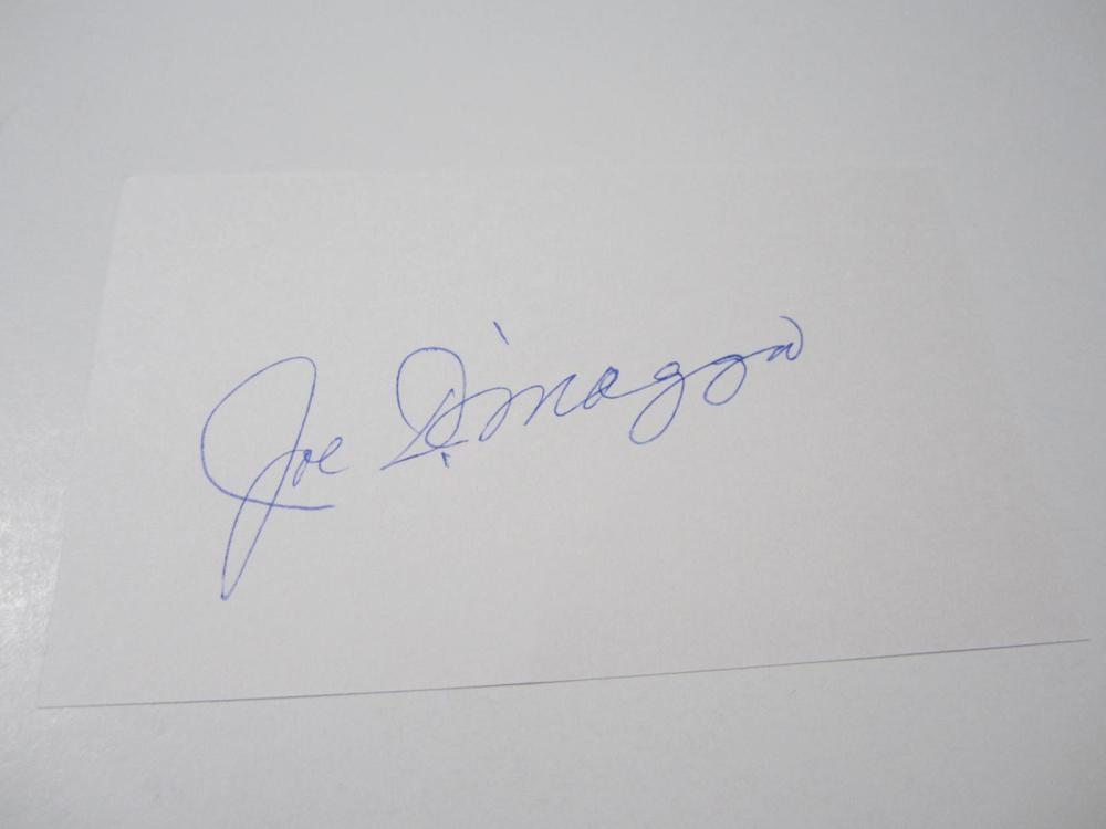 Lot 978: Joe DiMaggio Yankees signed autographed 3x5 Index Card Certified Coa