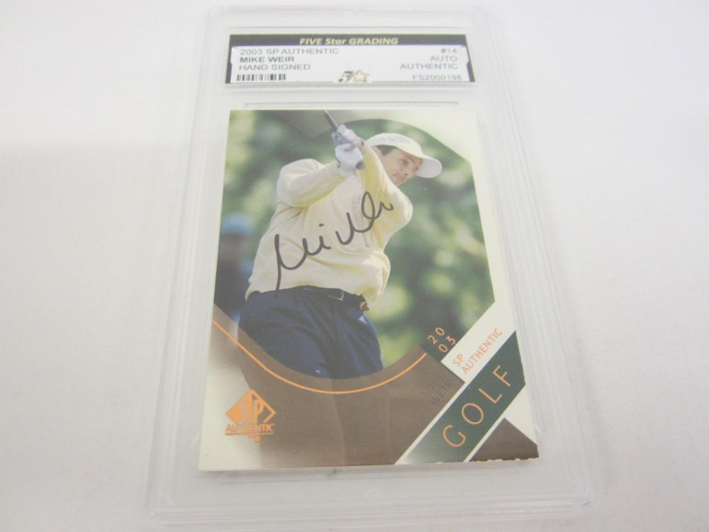 Lot 963: 2003 SP AUTHENTIC MIKE WEIR HAND SIGNED AUTOGRAPHED SLABBED CARD