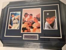 Lot 986: Mickey Mantle Yankees signed autographed Framed 8x10 Photo Certified Coa