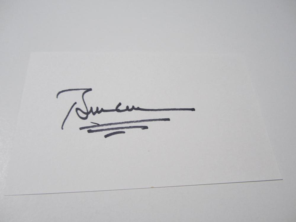 Lot 979: Bill Clinton signed autographed 3x5 Index Card Certified Coa
