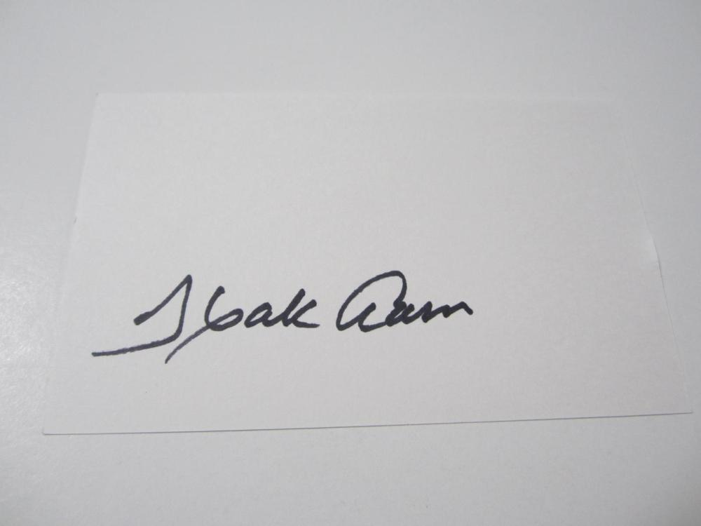 Lot 976: Hank Aaron Braves signed autographed 3x5 Index Card Certified Coa