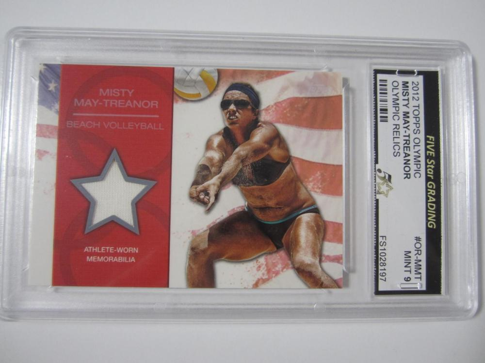 Lot 981: Misty May Treanor 2012 Topps Olympic Olympic Relics Mint 9 Five Star