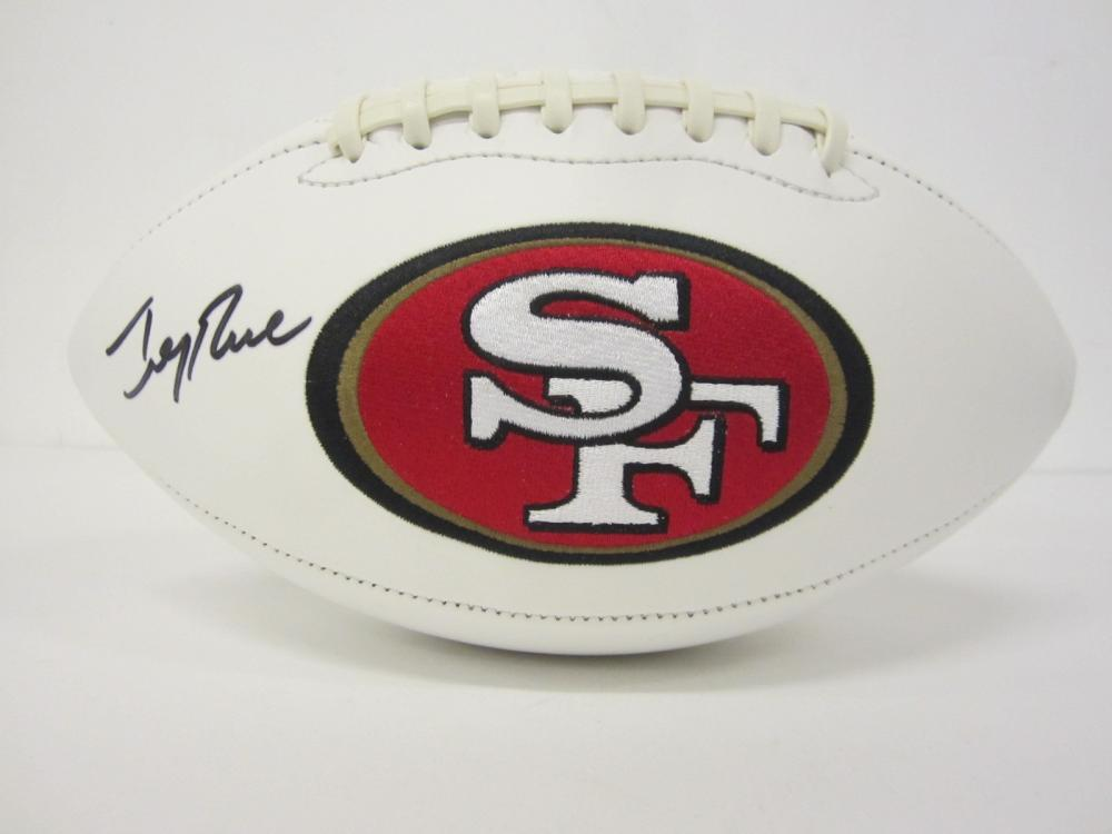 Lot 987: JERRY RICE 49ERS SIGNED AUTOGRAPHED FOOTBALL CERTIFIED COA