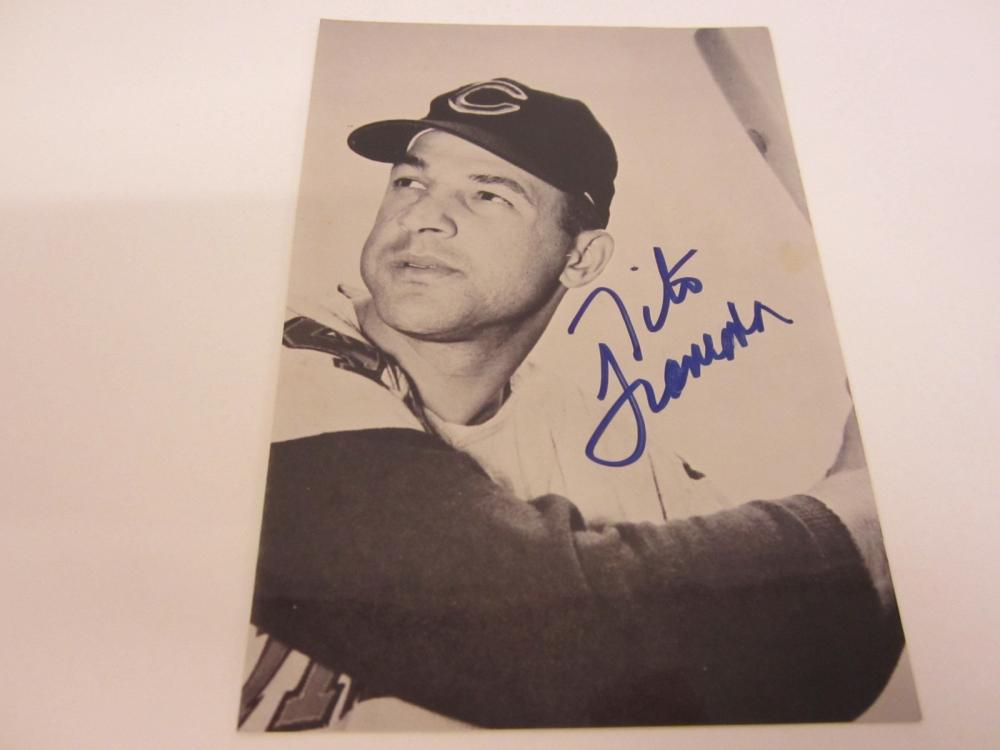Lot 994: TITO FRANCOMA SIGNED AUTOGRAPHED 4 X 6 NETWORK CARD WITH COA