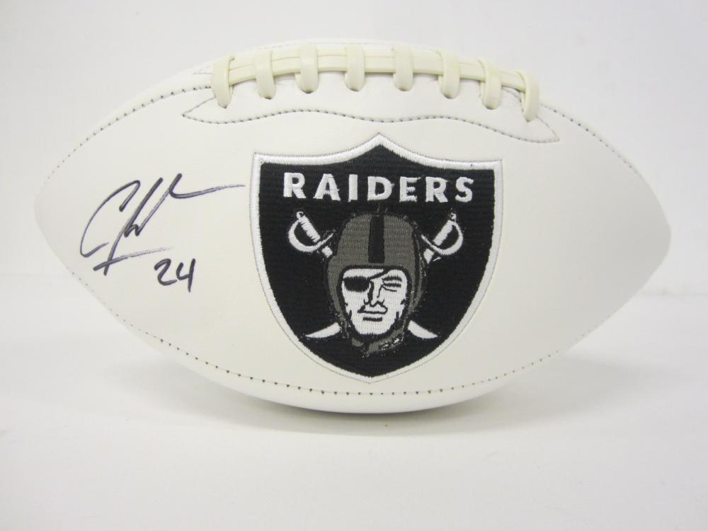 Lot 990: CHARLES WOODSON RAIDERS SIGNED AUTOGRAPHED FOOTBALL CERTIFIED COA