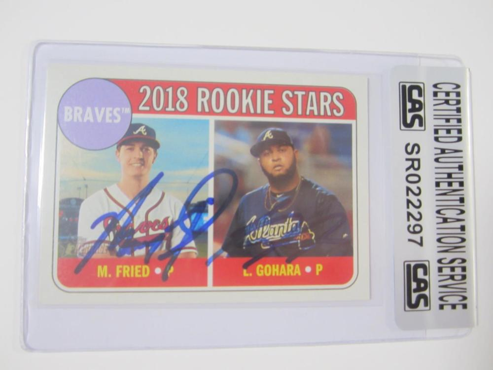 Lot 1000: M Fried/L Gohara Hand Signed Autographed 2018 Rookie Card CAS Certified