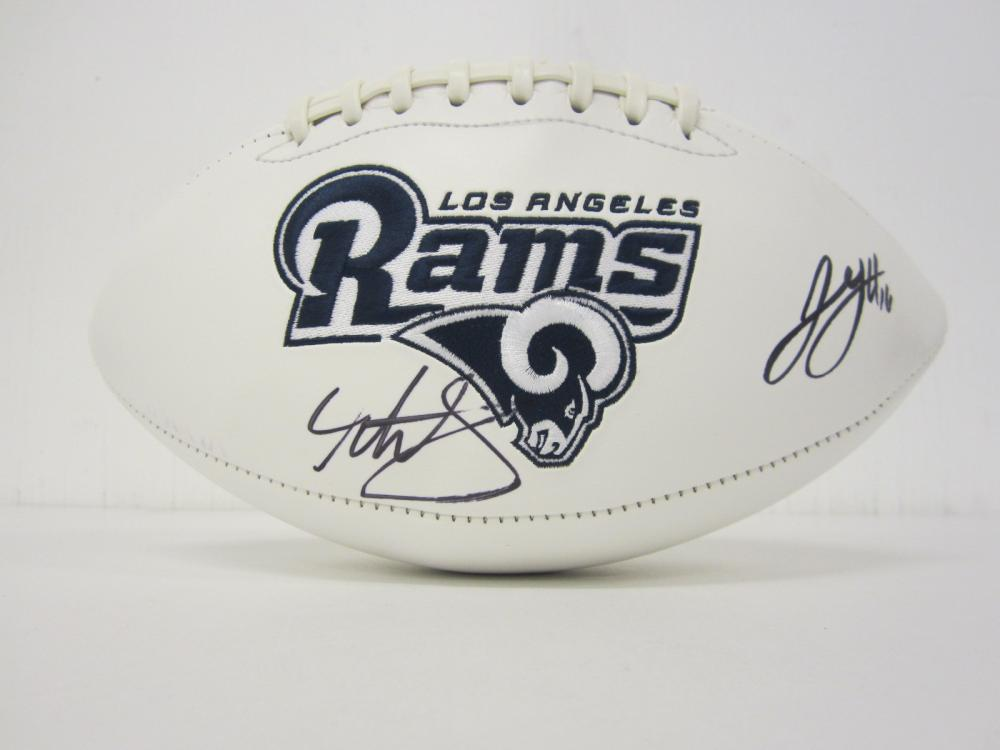 Lot 988: TODD GURLEY JARED GOFF RAMS SIGNED AUTOGRAPHED FOOTBALL CERTIFIED COA