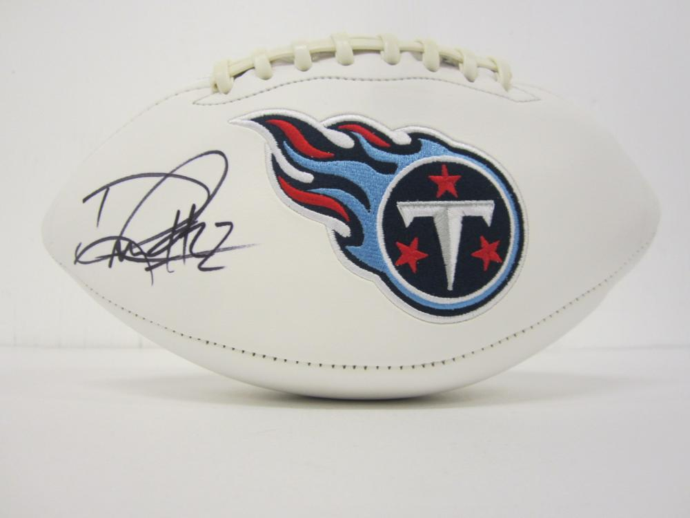 Lot 1007: DERRICK HENRY TITANS SIGNED AUTOGRAPHED FOOTBALL CERTIFIED COA