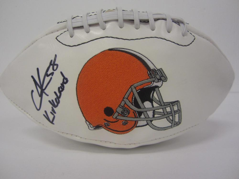 Lot 1009: Christian Kirksey Browns signed autographed Football Certified Coa