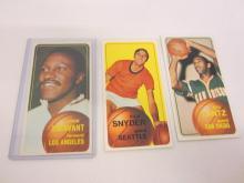 Lot 1018: (3)1970-71 TOPPS BASKETBALL JOHN TREVANT,STU LANTZ,DICK SNYDER CARDS