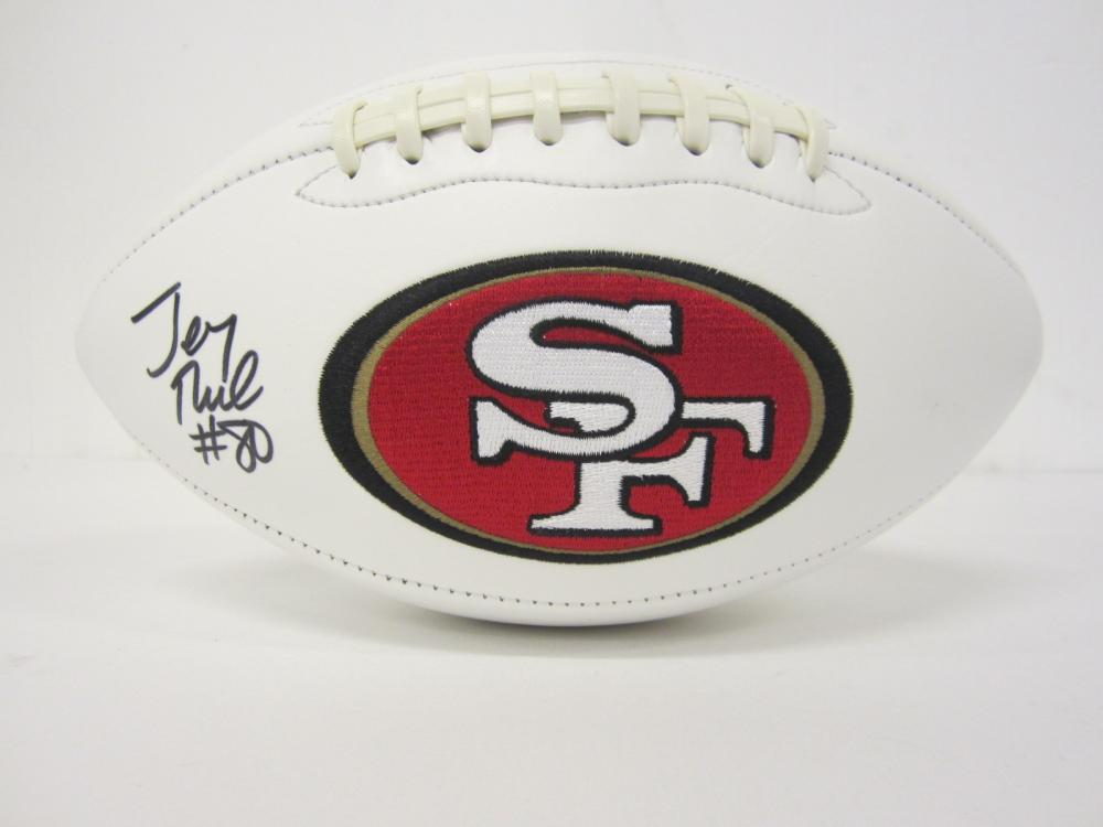 Lot 1006: JERRY RICE 49ERS SIGNED AUTOGRAPHED FOOTBALL CERTIFIED COA