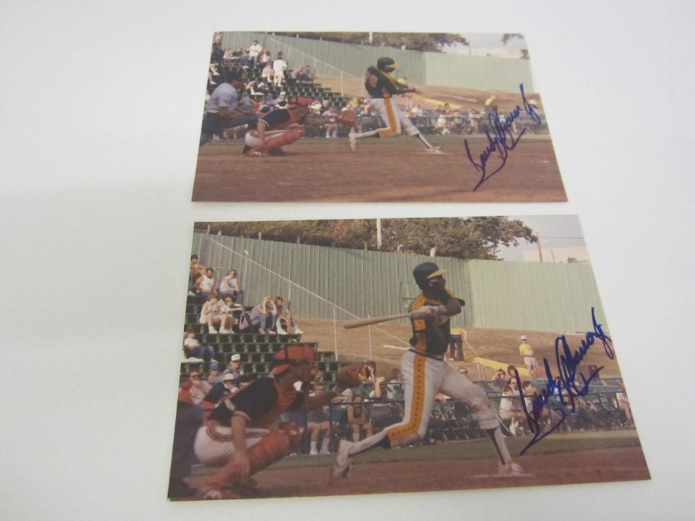Lot 1015: SANDY ALOMAR 4 X 6 HAND SIGNED AUTOGRAPHED WITH COA
