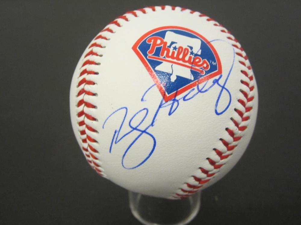 Lot 1010: ROY HALLADAY PHILLIES SIGNED AUTOGRAPHED BASEBALL CERTIFIED COA
