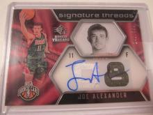Lot 1026: 2008/09 UPPER DECK SIGNATURE THREADS JERSEY RELIC 242/599 JOE ALEXANDER MILWAUKEEE BUCKS SIGNED AUTOGRAPHED SPORTS CARD #69