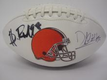 Lot 1035: David Njoku and 1 other Browns signed autographed Football Certified Coa