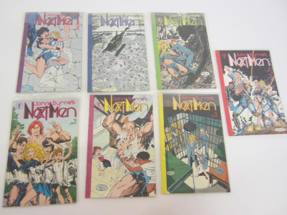"Lot 1034: JOHN BURNES "" NEXT MAN "" COMIC BOOK LOT OF ( 6 ) RARE VINTAGE COMICS"
