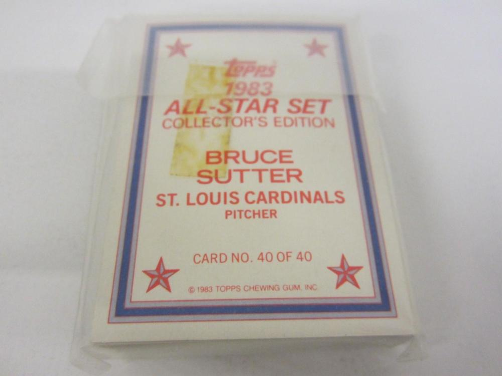 Lot 1032: 1983 TOPPS ALL STAR SET 40 CARD COMPLETE