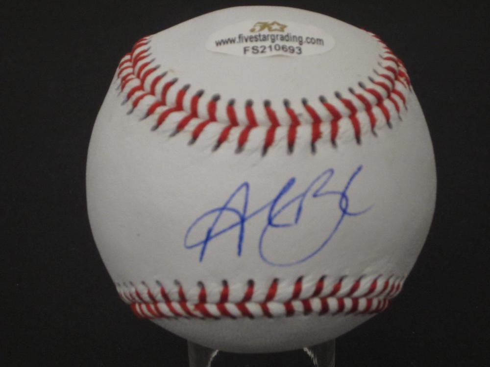 Lot 1042: ALEC BOHM SIGNED AUTOGRAPHED BASEBALL 5 STAR COA ROOKIE