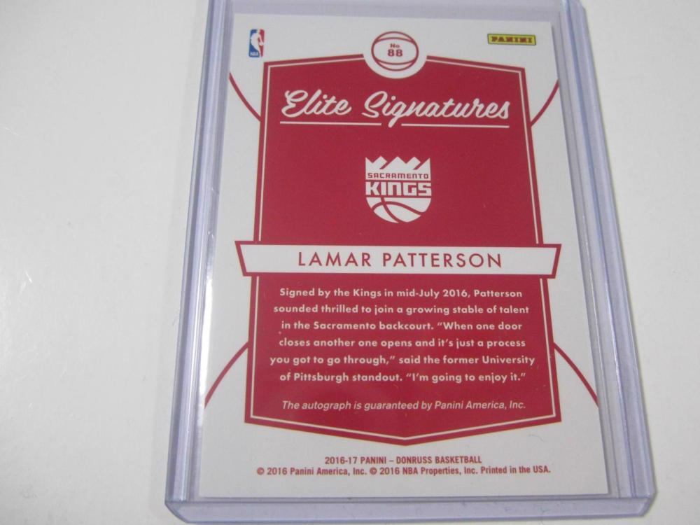 Lot 1047: 2016 PANINI BASKETBALL LAMAR PATTERSON SIGNED AUTOGRAPHED CARD 87/99