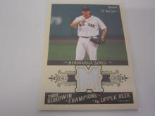 Lot 1063: 2009 UPPERDECK BASEBALL JOSH BECKETT PIECE OF GAME USED REDSOX JERSEY CARD