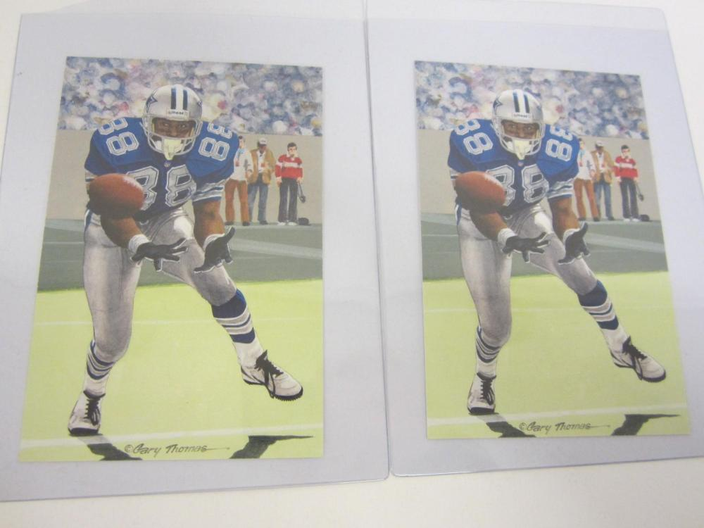 Lot 1068: CLASS OF 2007 FOOTNBALL HALL OF FAME CARD MICHAEL IRVIN LOT OF ( 2 )