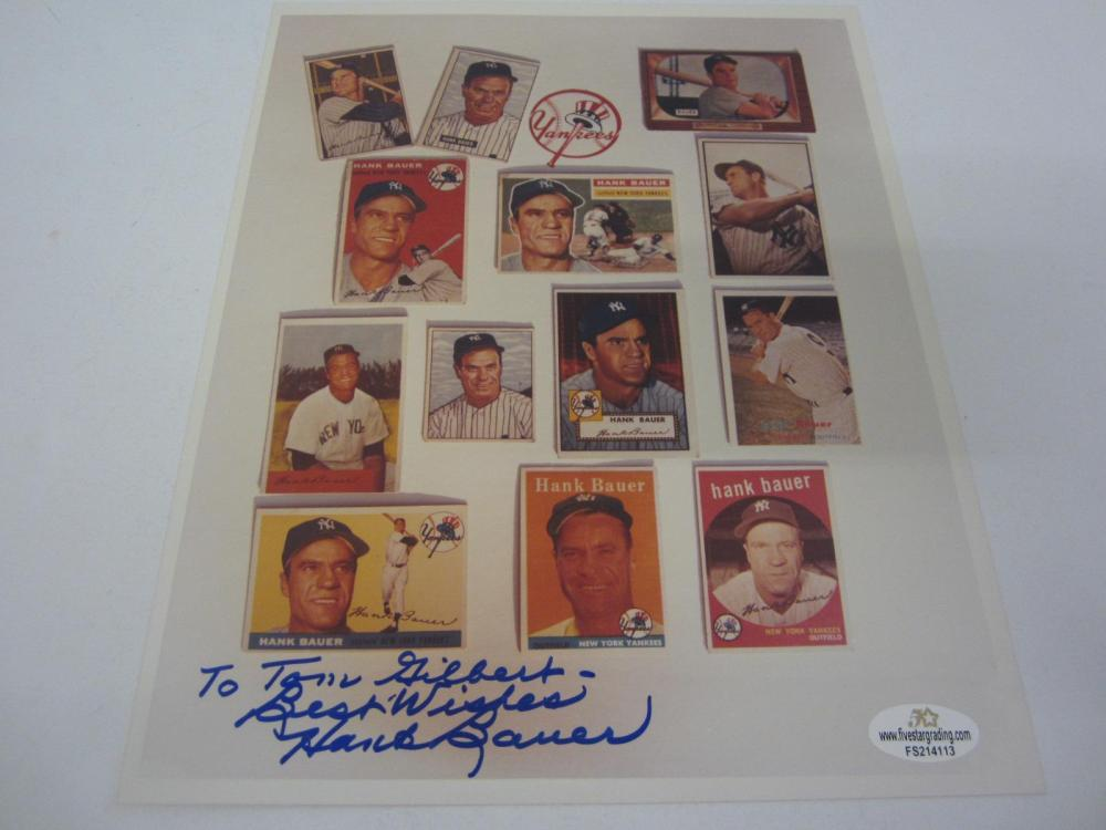 Lot 1069: HANK BAUER SIGNED AUTOGRAPHED 8X10 5 STAR COA