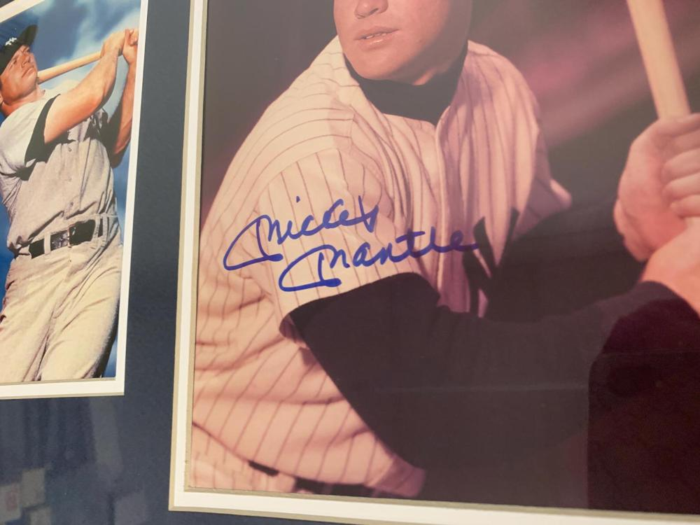 Lot 1082: Mickey Mantle Yankees signed autographed Framed 8x10 Photo Certified Coa